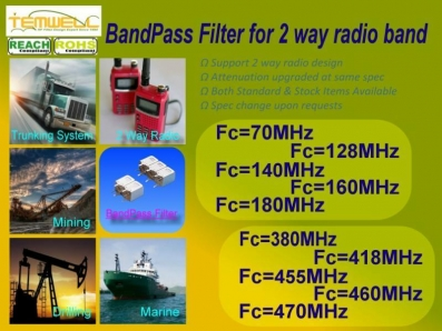 Standard BPF for 2 way radio design