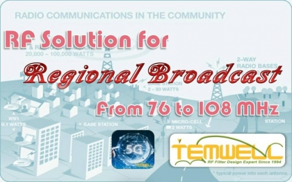 RF Solution for Regional Broadcast