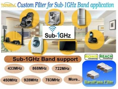 Sub-1GHz Bandpass Filter