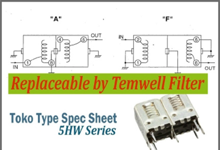 Temwell 5HW Series Toko Helical Filters