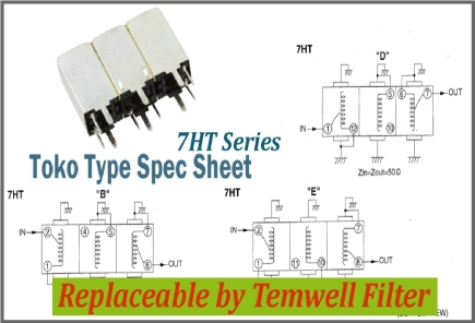 Temwell 7HT Series Toko Helical Filters