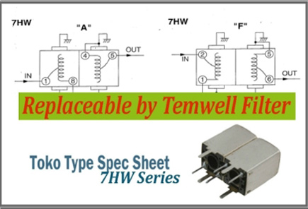 Temwell 7HW Series Toko Helical Filters