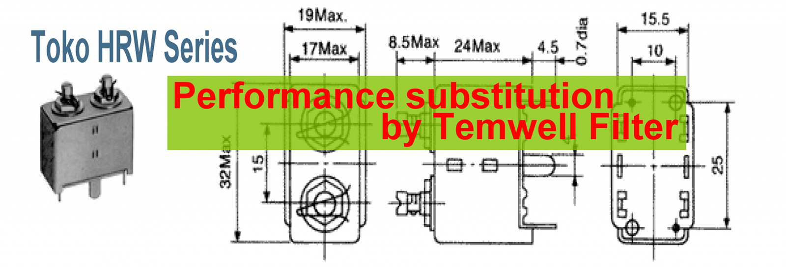 Temwell HRW Series Toko Helical Filters