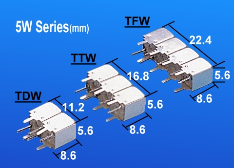 Temwell 5W Series Helical Bandpass Filters