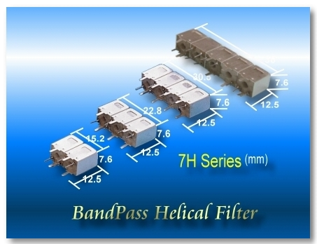 7H Series RF Bandpass Helical Filter